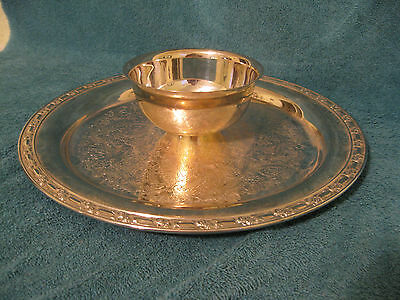 Oneida Silver Plated Tray w/Attached Condiment Bowl (item# A219)