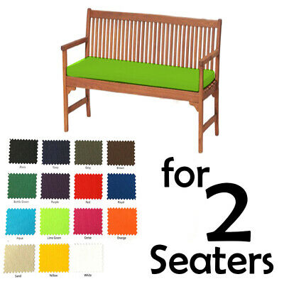 Water Resistant Cushion Pad for Small 2 Seater Metal Bench Garden Outdoor