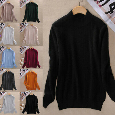 HOT Women Cashmere Sweater Winter Knitted Turtleneck Pullover Warm Jumpers M~2XL