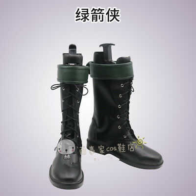 Green Arrow Season 5 Cosplay Costume Boots Oliver Queen Customized Shoes