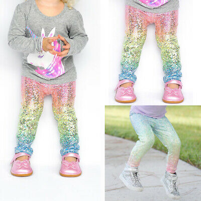 cdeade45818c1 US Toddler Kids Girls Baby Sequin Leggings Pants Trousers Clothes Outfit  Bottoms