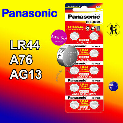 Panasonic LR44 Genuine Battery A76/AG13 Button Cell Batteries 100~50~30~20~10x