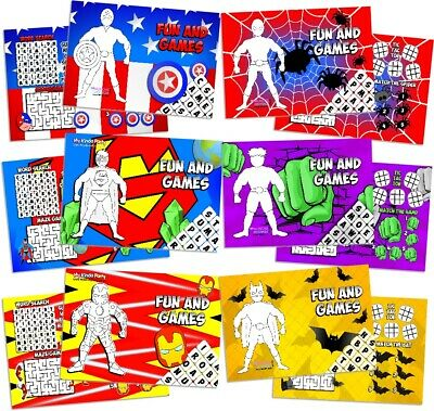 Party Bag Books Fillers Football Fun and Games Activity Sheets Pack of 12