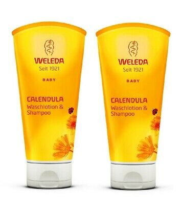 WELEDA Baby Calendula Wash Llotion & Shampoo - 200 ml *GERMANY*