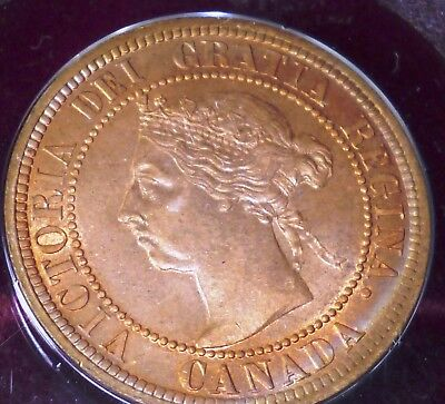 Canada 1890 H  Victorian Large Cent Red  Uncirculated