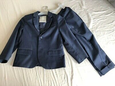 Boys Blazer Trouser 2 Peice Suit Age 5/ 6 116cm From Zara Worn Once
