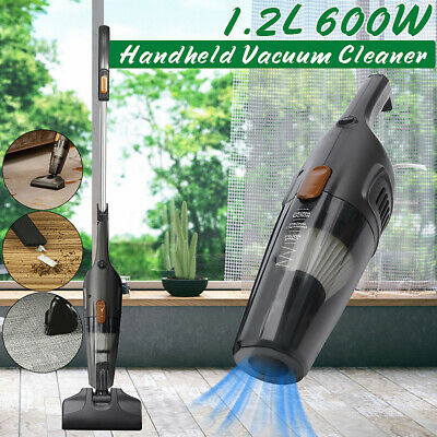 600W Handheld Vacuum Cleaner Handstick Cleaning Vac Bagless Portable Stick 1.2L