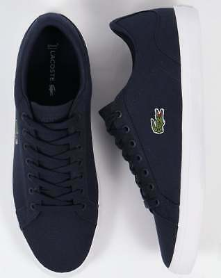 17c40358a83e LACOSTE LEROND 118 1 CAM Trainers in Navy Blue   White   Brown in ...