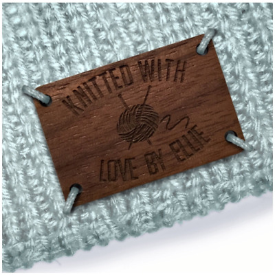 Walnut Wood RECTANGLE Tags 25mmx15mm Wooden Add: Any text, an image, website