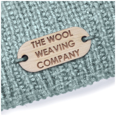 Birch Wood OBLONG Tags 20mm x 16mm Wooden Add: Any text, an image or your logo