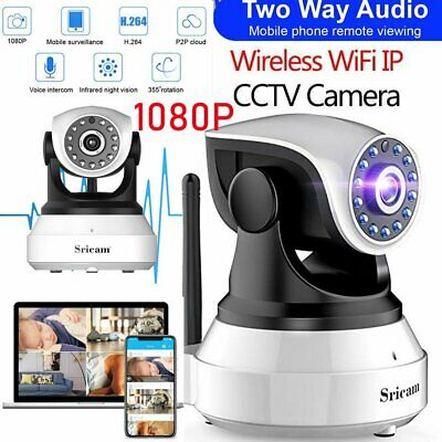 Sricam 1080P Wireless Wifi IP Camera CCTV Security Webcam Monitor CAM Pan/Ti BL