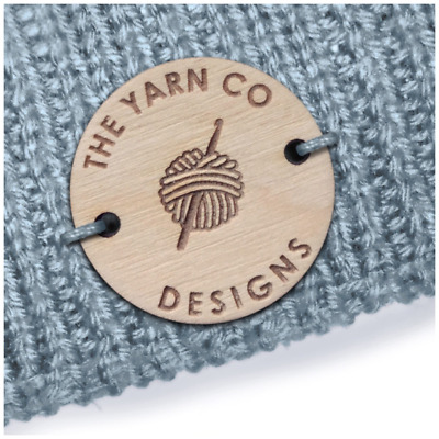 Birch Wood CIRCLE Tags 30mm Wooden Handmade Custom Personalized Clothing Crochet