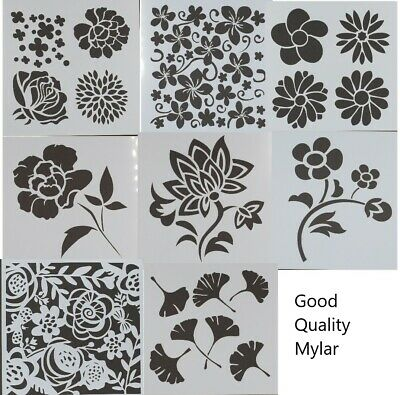 Variety of Mylar New Mask/Stencil/Template Mixed Media Home Decor