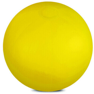 "Yellow Inflatable Translucent 10"" Beach Ball Swimming Pool Party Kids Toy Swim"