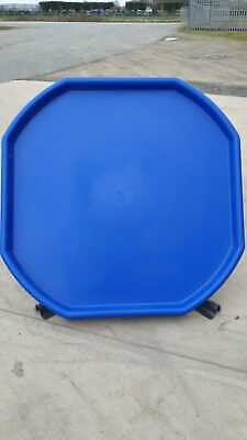 Damaged Scratched Large Plastic Mixing Spot Tray Cement Sand Plastering Blue