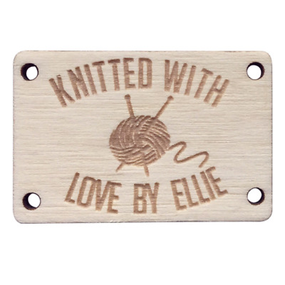 Birch Wood RECTANGLE Tags 25mmx15mm Wooden Add: Any text, an image, website name