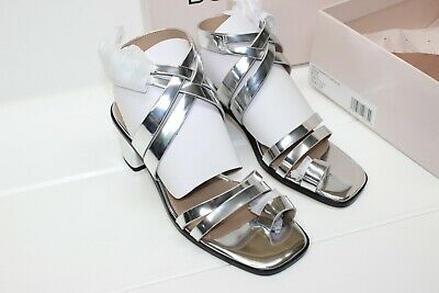 188d381f404 BCBGeneration Womens erica Open Toe Casual Ankle Strap Sandals Metallic