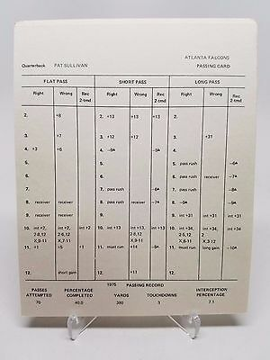 1975 Atlanta Falcons Strat-O-Matic Football Team Original Complete