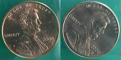 2000 P and D Lincoln Cent 2-Coin from US Mint Set UNC Cello One Cent Penny Set