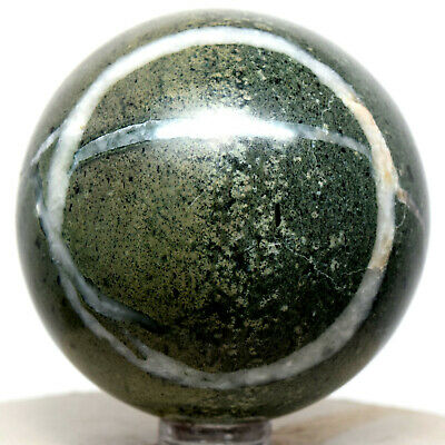 "2.3"" Peruvian Green Apatite Sphere Sparkling Natural Mineral Polished Stone Ball"