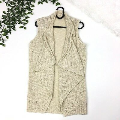 109c1a4a6d4 Ecote Urban Outfitters Womens S Crochet Knit Open Draped Vest Cardigan Small