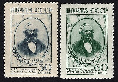 Russia USSR 1943 complete set of stamps Zagor#770-771 MNH CV=14,3$