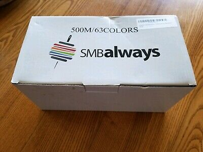 Polyester Embroidery Machine Thread Set (63 Spools 500m Each) by SMB Always
