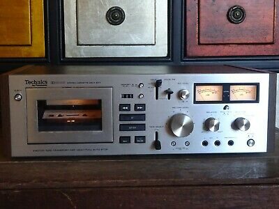 Vintage Panasonic Technics Stereo Single Cassette Deck 677, 2 Motor Tape, Dolby