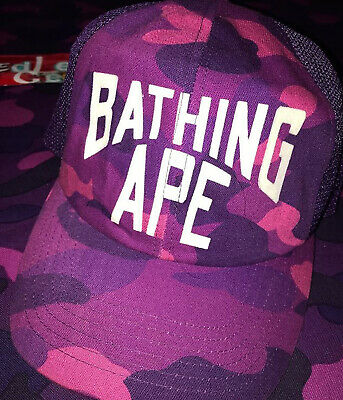 364d82e34c4a BAPE VINTAGE NEW York college logo trucker hat kaws a bathing ape ...