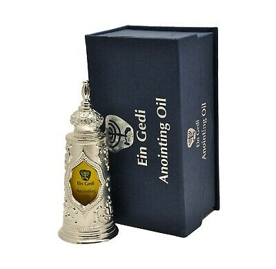 Silver Anointing oil Blessed biblical oil from in Jerusalem 125 ml. by Ein Gedi
