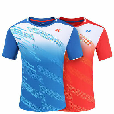 2019 New Quick-drying Polyester badminton Tops tennis Clothing men's Tee shirt