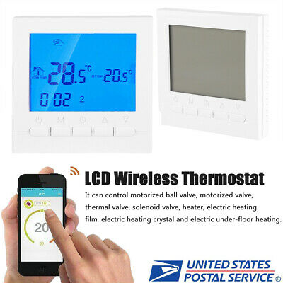 NEW PROGRAMMABLE WIFI Wireless Digital Thermostat LCD Touch Screen