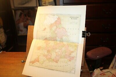 Antique 1895 Map England and Wales