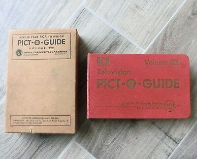 Vintage 1952 RCA Television Pict-O-Guide Volume III with Original Box