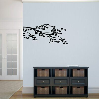 Corner Leafy Branch Wall Decal - Trees, Branches, Leaves, Wall Accent, Wall Art
