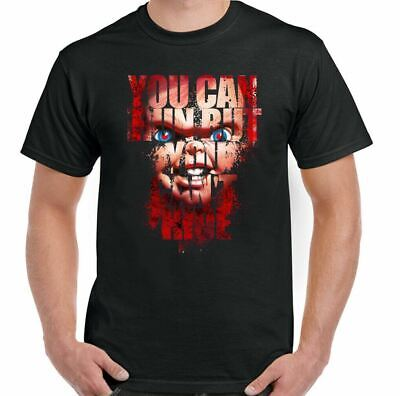 Chucky You Can Run But You Can't Hide Mens Funny Movie T-Shirt Halloween Horror