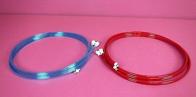 "2 NEW Zimmer ATS 2000 Style Tourniquet 1/4"" Colder 10' Dual Twin Hose Tubing"