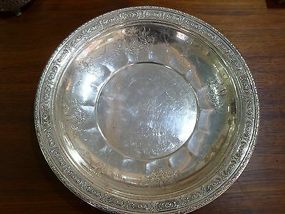 "Amazing Towle Sterling Silver Tray Charger Plate Old Master #6668 12"" Wide"
