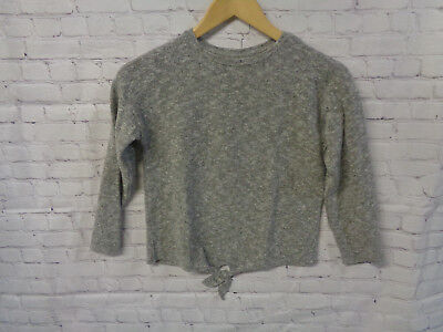 ! Zara Girls Casual Grey Melange Sweater Jumper Sz. 8, 128 cm
