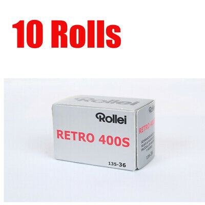 10 Rolls Rollei Retro400s 35mm 135-36EXP Black&Wihte Film Fresh 08/2022