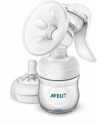 Philips AVENT Manual Breast Pump With Massage Cushion (Clear) - Brand NEW Sealed