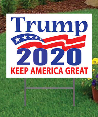 """Trump 2020 Sign Keep America Great 24""""x18"""" w/stake Trump Sign Bigger & Better"""