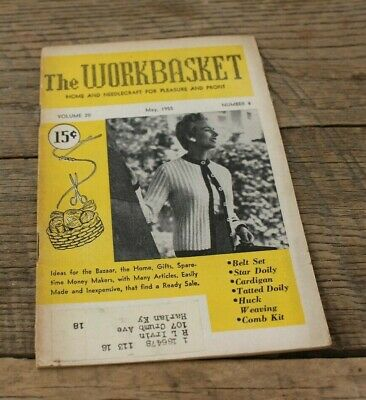 Vintage Booklet Magazine Workbasket Home Needlecraft Volume 20 May 1955 #8