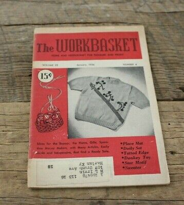 Vintage Booklet Magazine Workbasket Home Needlecraft Volume 21 Jan 1956 #4