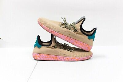 a3c389caed352 Adidas Stan Smith Pharrell Williams Tennis HU Tan Pink Marble BY2672 Size 10