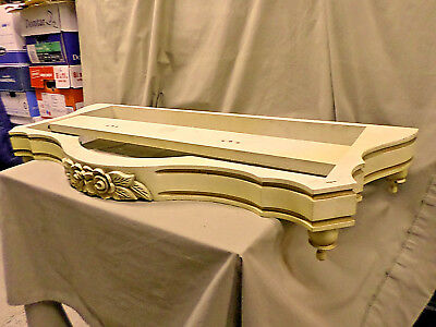 2125D Vtg Pelham Shell & Leckie Table Top Skirting Wood Ivory/Gold 39x17 EXC CON