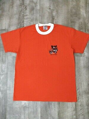 4b2284a0d1258 VINTAGE 80S TIGER Cubs Boy Scouts Single Stitch Ringer Tee