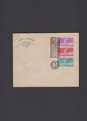Uruguay FDC Cover, 1924, Olympics Football Cancel with Scott 282-284, Rare Cover