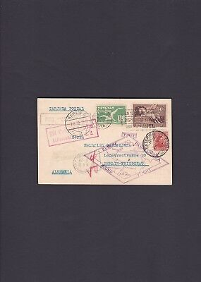 1930 World Cup Cancel on Uruguay Zeppelin Around The World Pan-American Cover