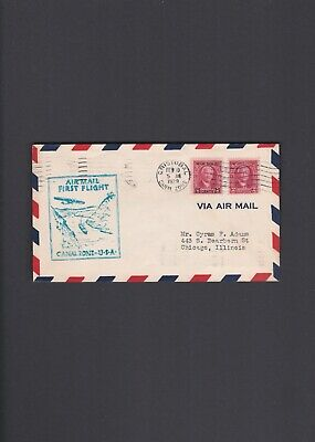 Canal Zone First Flight Cover 1929 Cristobal to Chicago via Miami
